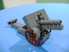 Custom Lego WW1 German cannon Skoda M14 final version (TekBrick) Tags: custom lego ww1 german canon skoda m14 horse buggy moc brick parts dark gray war