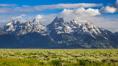 Grand Teton National Park (AkshayDeshpande) Tags: grand teton national park service nps wyoming usa america usinterior canon rebel t3i mountains snow clouds roadtrip hdr landscape outdoors sagebrush tetons rocky sky