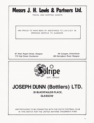 Celtic vs Benfica - 1974 - Page 6 (The Sky Strikers) Tags: celtic benfica challenge match for childrens cup park parkhead unicef official souvenir programme 20p