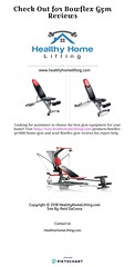 Check Out for Bowflex Gym Reviews - www.healthyhomelifting.com (healthyhomelifting0) Tags: check out for bowflex gym reviews