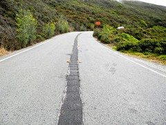 centerline rumble strip (citymaus) Tags: highway 1 marin county bayarea california pacific coast centerline rumble strip mumble strips caltrans repaving