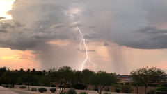 Sunset Lightning_2 (northern_nights) Tags: sunset lightning iphone video frame vail arizona