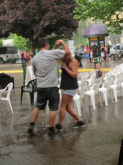 Dancing in the rain (jamica1) Tags: derina harvey band revelstoke bc british columbia canada couple dancing rain