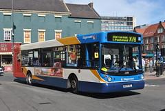 22081 NK54 BGZ SERVICE X78 DARRAS HALL & PONTELAND (NorthEastLancs) Tags: 22081 nk54 bgz stagecoach north east slatyford depot man alexander transbus alx300
