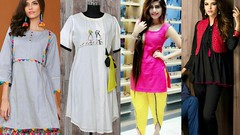 Top Stylish Cotton Plain Kurti Designs for Casual Wear - Latest Fashion Trend 2018-19 (The Beauty Writer) Tags: top stylish cotton plain kurti designs for casual wear latest fashion trend 201819