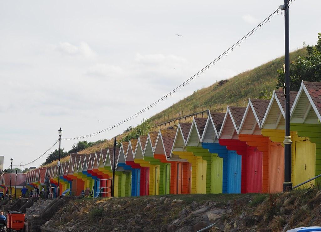 Beach huts Scarborough North Bay