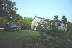 Hillside Cabin (MattDimSum) Tags: abandoned 4x4 gmc s15 blazer s10