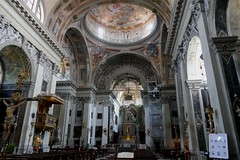 Eglise baroque San Nicola de Tolentino (XVIIe-XVIIIe), campo dei Tolentini, Santa Croce, Venise, Vénétie, Italie.