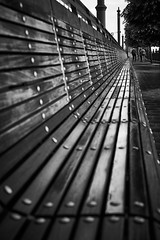Bench (iamunclefester) Tags: budapest monochrome blackandwhite bench danube
