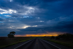 Farm to Market Sunset - Rural Falls County, Texas (lonestarbackroads) Tags: cloud clouds country overcast road rural sunset