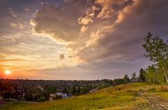 Calgary Sunset August 3 2018 (John Andersen (JPAndersen images)) Tags: alberta bridgeland calgary cityskyline clouds sun sunset