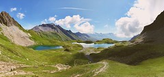 3  of the 5 Forclaz Lakes (Wamix31) Tags: mountains clouds sun hiking france lakes wild