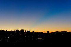 City Lights in the Morning (Sercan Tırnavalı) Tags: ankara cityscape lights city morning sun reverse light ters ışık şehir manzarası sony a6000 sel 1650 mm rise