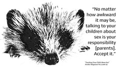 """Quotation: """"No matter how awkward it may be, talking to your children about sex is your responsibility [parents]. Accept it."""" (Ken Whytock) Tags: face quotation awkward talking children sex responsibility parents acceptit"""
