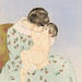 Mother's Kiss illustration by Mary Cassatt (1844-1926). Original from Library of Congress. Digitally enhanced by rawpixel.