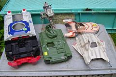 Rainy weekend wreckage (Amazing_A-Man) Tags: wolverine gi joe air speeder