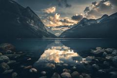 The Legendary Lake Louise at sunset (IzTheViz) Tags: banff alberta canada rockies louise lake reflection sunset lakelouise