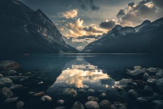 The Legendary Lake Louise at sunset