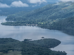 Luss, Loch Lomond - August 2018 (GOR44Photographic@Gmail.com) Tags: luss loch lomond ben water trees sunlight mist cloud rowardennan gor44 scotland stirling argyll panasonic g9 45200mmf456 houses