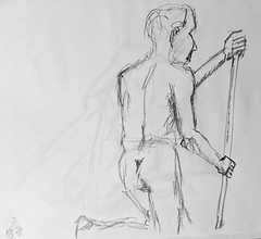 Wild Goose #lifedrawing 8.15.18 (Howard TJ) Tags: gesture figure ohio columbus wildgoose pose male life pencil drawing lifedrawing