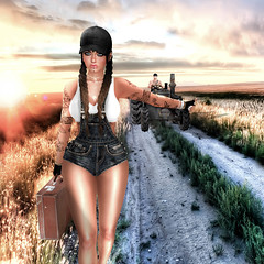 #34 Travel (Tay Stone) Tags: lecastle sl second life 2018 new release female attitude amazing travel pose poses photo photography foxy naanaa naanaa´s hair kibitz vale koer legal insanity modulus male