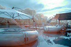 Sunday afternoon 2 (gambajo) Tags: infrared infrated infrarot surreal boat lake water leasure paddleboat street streetphotography see boote boot recreation relax himmel