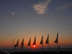 Netherlands-201806-1-Sunsetting-FlagsDay (Tony J Gilbert) Tags: holland scheveningen denhaag nikon landscapes netherlands thehague hague