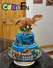 dinosaur Cake (bsheridan1959) Tags: cake cakesforfun cakedecorations edibleart customcakes birthdaycake kidscake east texas holly lake ranch fondant marshmallowfondant sweets specialoccasioncelebration dessert