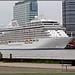 Amsterdam Noord : zicht op de cruiseterrminal PTA