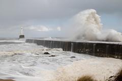 Breaking Waves (StickyToffeeQueen) Tags: aberdeen lighthouse waves foam breakwater