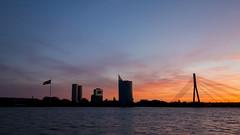 Sunset at Daugava River (HansPermana) Tags: riga latvia lettland baltic balticnation balticsea oldtown daugava river sunset eu europe europa osteuropa ostsee vanšubrücke vanšubridge silhouette