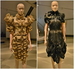 Radiation Invasion, Transforming Fashion, Designing the Impossible by Iris Van Herpen, Royal Ontario Museum, Toronto, ON (Snuffy) Tags: radiationinvasion transformingfashion designingtheimpossible irisvanherpen royalontariomuseum rom toronto ontario canada