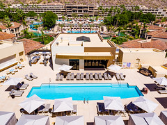 The Phoenician Spa Rooftop Pool (thephoenicianscottsdale) Tags: aerial arizona blue djiinspire1 drone inspire1 phoenix pool resort scottsdale spa thephoenician tourism travel water