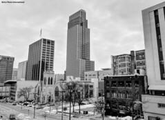 Downtown Omaha (Retro Photo International) Tags: bw downtown omaha january 7dwf