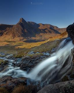 Tryfan, Llyn Ogwen and a Waterfall