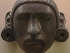Stone Mask of Xipe Totec, Aztec, AD 1300-1521 (Emma Nibaru) Tags: nikon nikond7200 london britishmuseum archeology mask terracotta ancient turquoise cultures