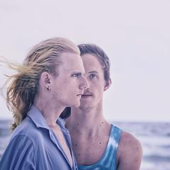 Caleb & Kurt (mckenziemedia) Tags: men love family friends people portrait portraiture summer vacation ocean highkey square wind