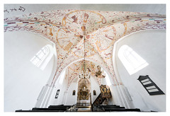 Elmelunde church, frescoes (leo.roos) Tags: elmelundekirke elmelundechurch 1085 fresco frescoes frescos elmelundemesteren romanesque gothic møn denmark denemarken swedenspring2018 a7rii voigtlanderheliarhyperwide10mmf56 voigtlander1056 emount cosina cv darosa leoroos