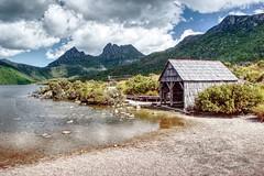Dove lake boathouse. (taszee63) Tags: tasmania cradlemountain hdr 3xp dovelake boathouse water mountain boatshed