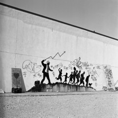 Banksy (simcitizzon) Tags: hasselblad 503cx ilford hp5 iso400 graffiti banksy