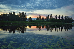 Reflections. Sunset on the lake Päijänne. Sysmä, Finland. Summer 2018. (L.Lahtinen (nature photography)) Tags: finland summer sunset reflections evening lake nikond3200 päijänne sysmä naturephotography nature beauty clouds night landscape calm suomi järvimaisema järvi maisema heijastukset goodnight auringonlasku autumn light colorful sunlight mirror europa blue top20waterpix landscapephotography magicnature