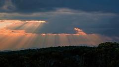 High Desert Light Show (San Francisco Gal) Tags: sky cloud light ray lightshow santafe newmexico landscape