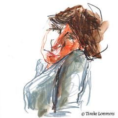 Scribble-portrait 13 (Tineke Lemmens) Tags: tinekelemmens portraits colored pencils