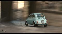 Fiat 500 (at1503) Tags: italy urban town retro vintage oldcar turqouise fiat 500 fiat500 italian smallcar icon iconic classic motion blur warmtones stone light shadows granturismo granturismosport motorsport racing game gaming ps4 originalfiat500