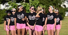 Sunglasses (mrlang2) Tags: cheerleaders females pink