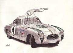 Mercedes Benz 300SL (Sat Sue) Tags: watercolor