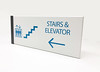 The Stow Company Signage Collection (2/90 Sign Systems) Tags: 290 sign signs signage systems wayfinding facility modular 290signsolutions klik stow blue wall perpendicular mount elevator stairs