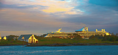 Another Cruise Ship (evakongshavn) Tags: marelladiscovery ship cruiseship cruise haugesund norge norway sunset sunsets island beam sunbeam