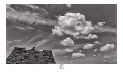 Looking at the sky (krishartsphotography) Tags: krishnansrinivasan krishnan srinivasan krish arts photography monochrome black white fineart fine art ancient architecture clouds sky float heavy affinity photo thirumayam tamilnadu india