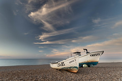 Sophie B Has a Rest (andybam1955) Tags: landscape cleynextthesea cleybeach coastal sophieb sky northnorfolk boats rural norfolk sea
